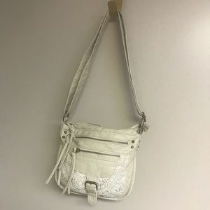 Mossimo Supply co Crossbody cream bag